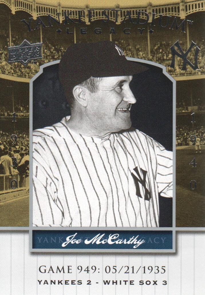 2008 Upper Deck Yankee Stadium Legacy Collection #949 Joe McCarthy
