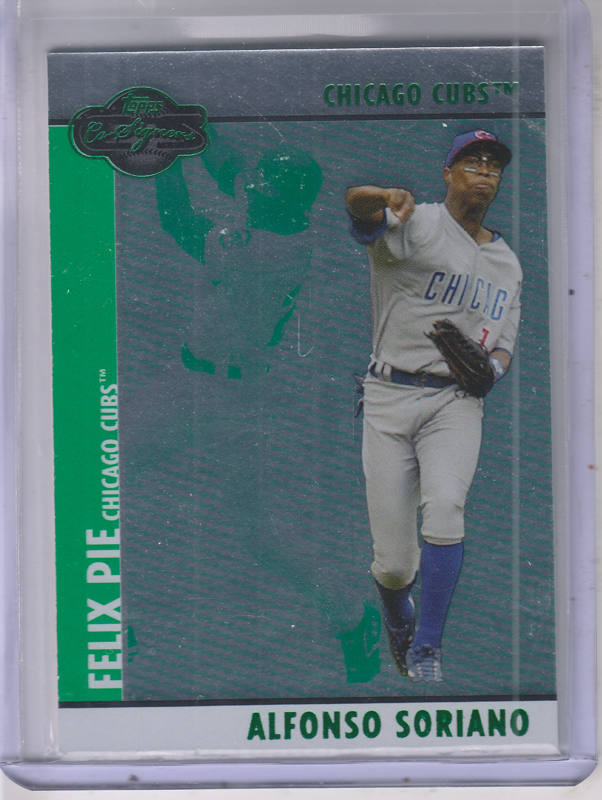 2008 Topps Co-Signers Silver Green #62b Alfonso Soriano/Felix Pie