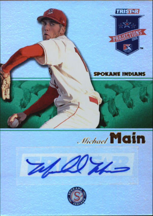2008 TRISTAR PROjections Autographs Reflectives Green #96 Michael Main