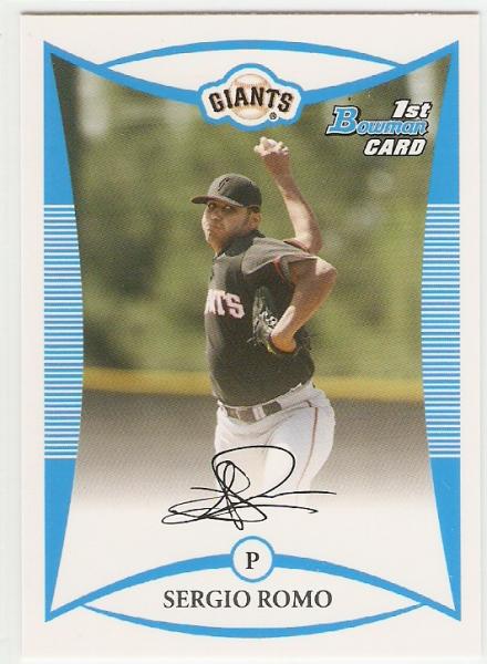 2008 Bowman Prospects #BP4 Sergio Romo