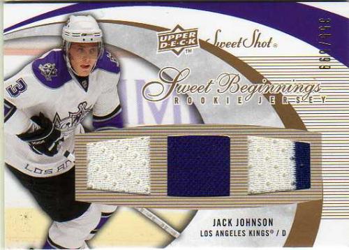 2007-08 Sweet Shot #108 Jack Johnson JSY RC