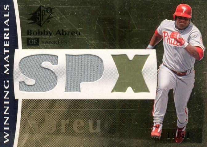 2008 SPx Winning Materials Dual SPx #BA Bobby Abreu