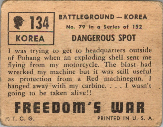 1950 Freedom's War #134 Dangerous Spot back image