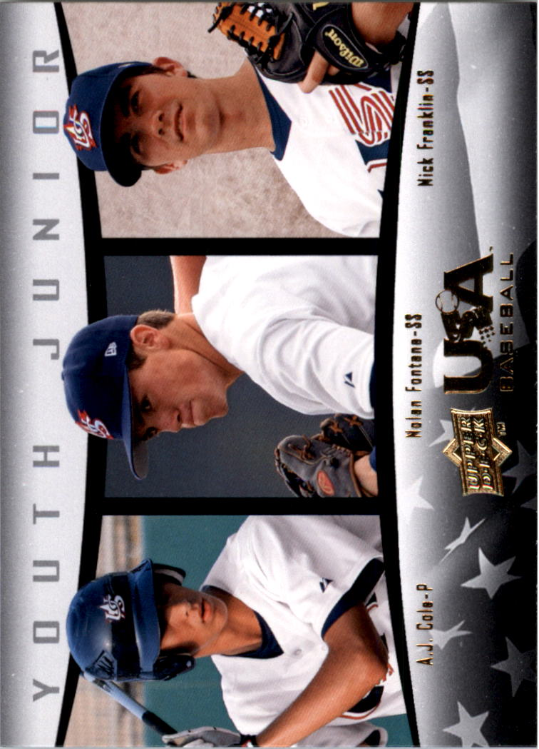 2008 USA Baseball #58 A.J. Cole/Nolan Fontana/Nick Franklin