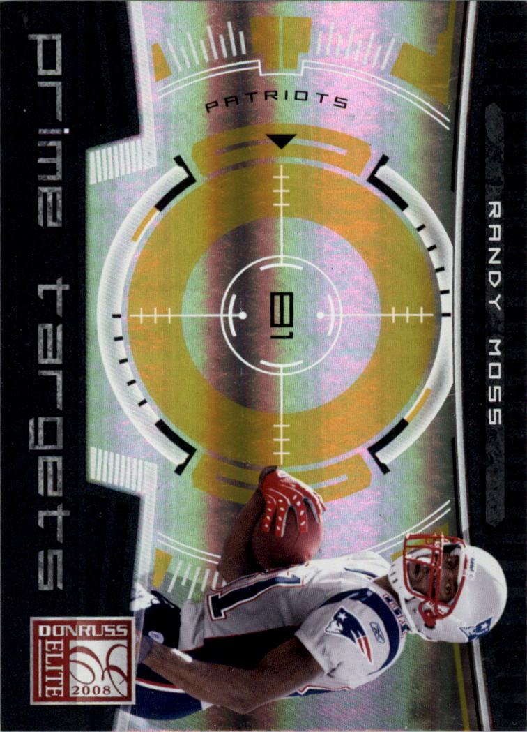2008 Donruss Elite Prime Targets Gold #2 Randy Moss