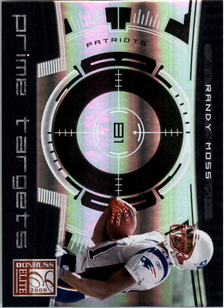2008 Donruss Elite Prime Targets Black #2 Randy Moss