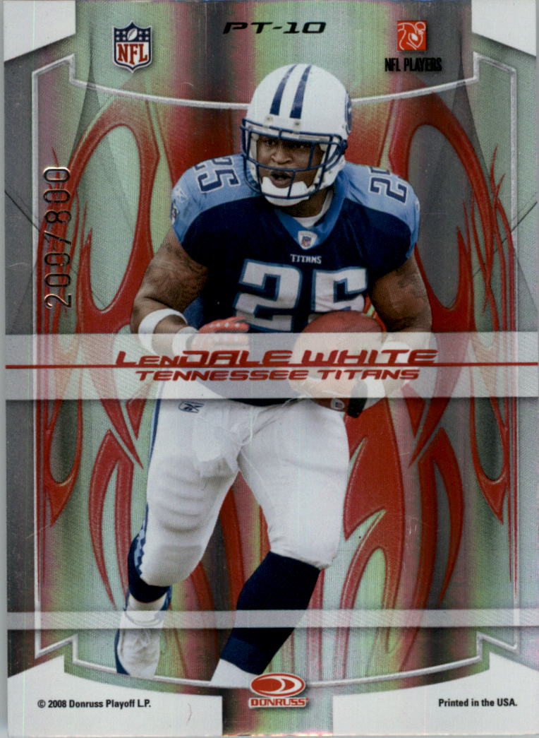 2008 Donruss Elite Passing the Torch Red #10 Earl Campbell/LenDale White back image