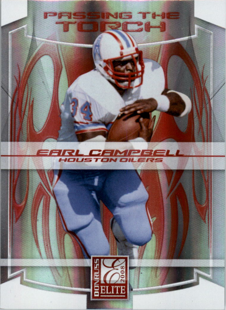2008 Donruss Elite Passing the Torch Red #10 Earl Campbell/LenDale White