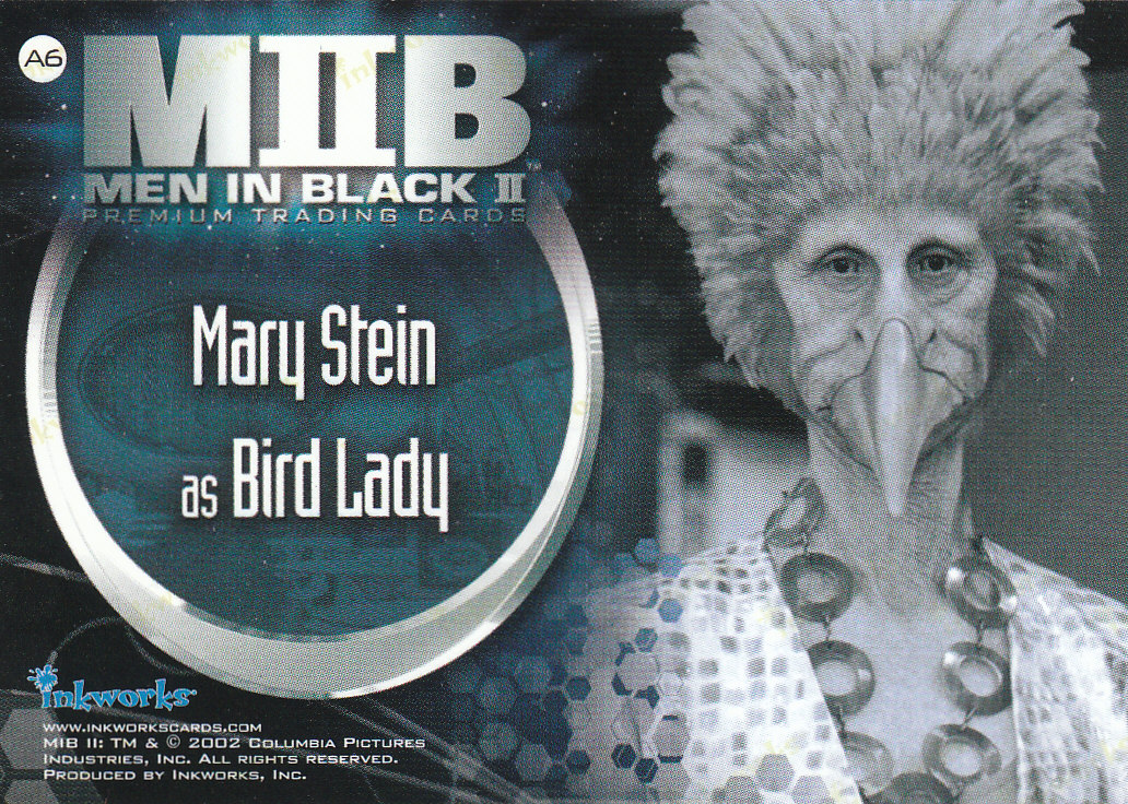 2002 Men in Black II Autographs #A6  Mary Stein back image