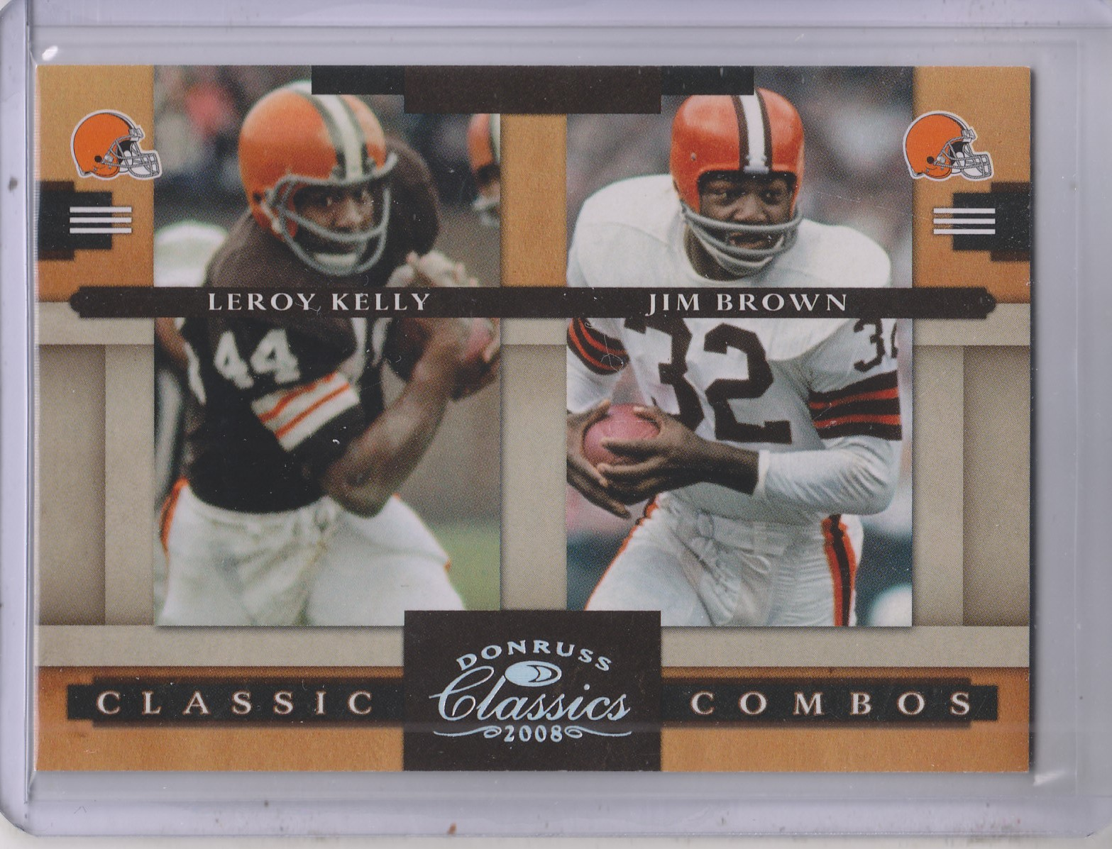 2008 Donruss Classics Classic Combos Silver Holofoil #6 Leroy Kelly/Jim Brown