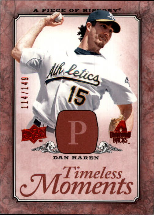 2008 UD A Piece of History Timeless Moments Red #2 Dan Haren