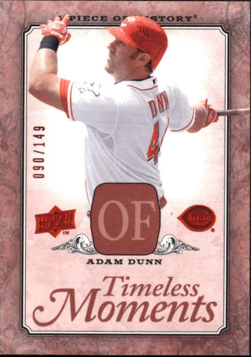 2008 UD A Piece of History Timeless Moments Red #15 Adam Dunn
