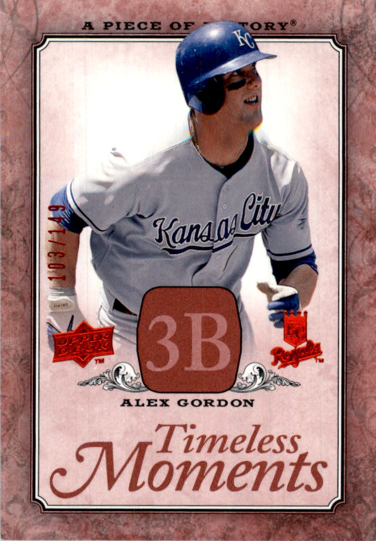 2008 UD A Piece of History Timeless Moments Red #23 Alex Gordon