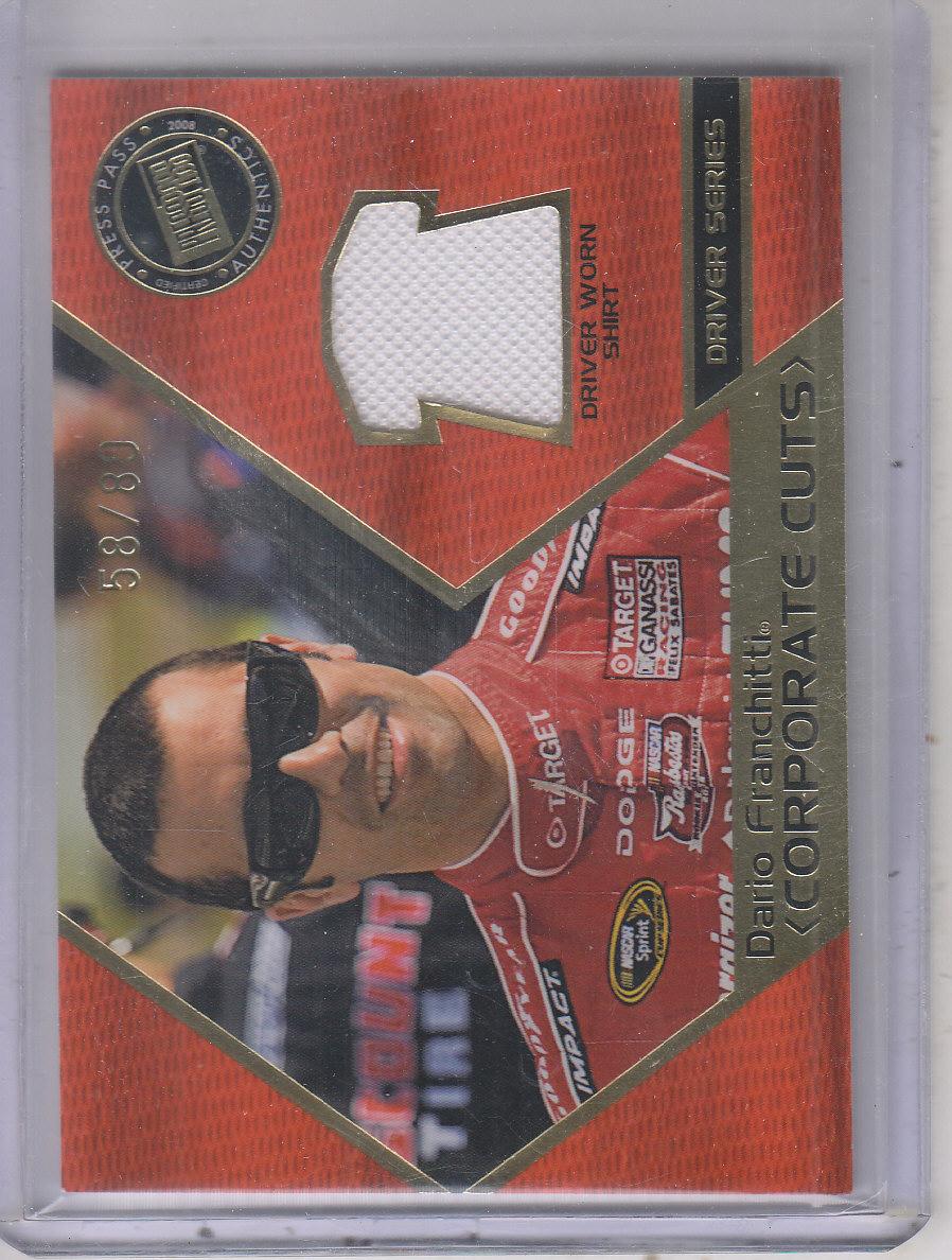 2008 Press Pass Speedway Corporate Cuts Drivers #CDDF Dario Franchitti