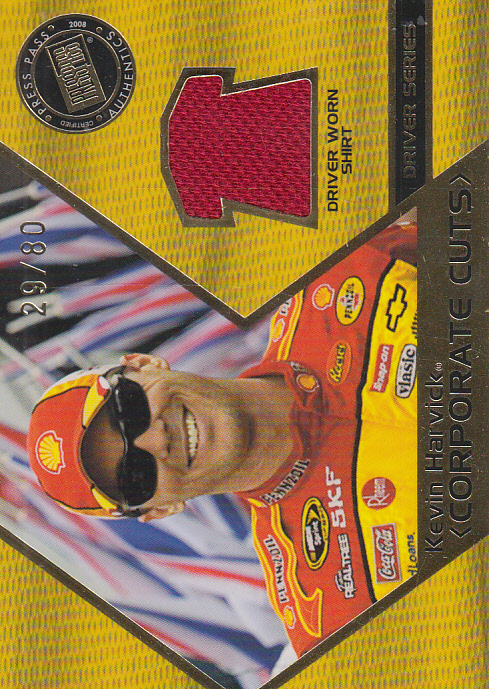 2008 Press Pass Speedway Corporate Cuts Drivers #CDKH Kevin Harvick