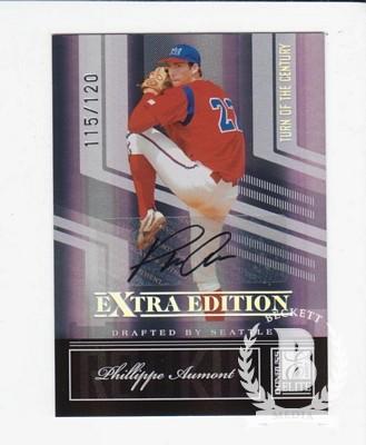 2007 Donruss Elite Extra Edition Signature Turn of the Century #128 Phillippe Aumont/120
