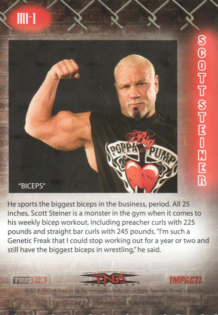 2008 TRISTAR TNA Impact Muscles Ink #MI1 Scott Steiner - NM-MT