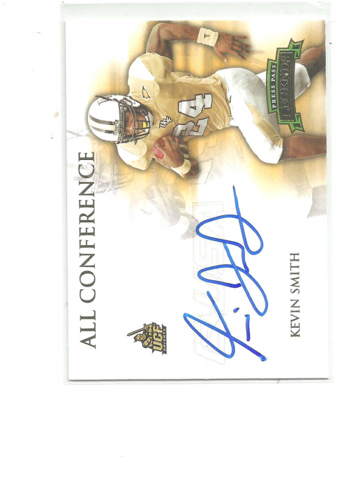2008 Press Pass Legends All Conference Autographs Gold #ACKS Kevin Smith/245