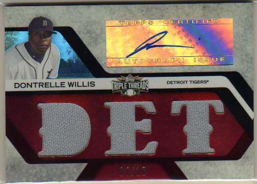2008 Topps Triple Threads Relics Autographs #132 Dontrelle Willis
