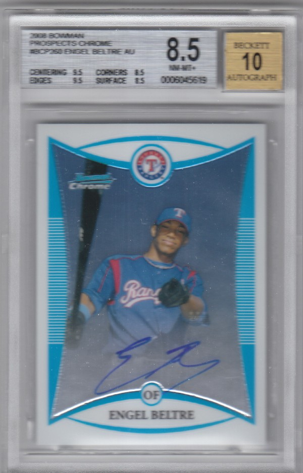 2008 Bowman Chrome Prospects #BCP260 Engel Beltre AU