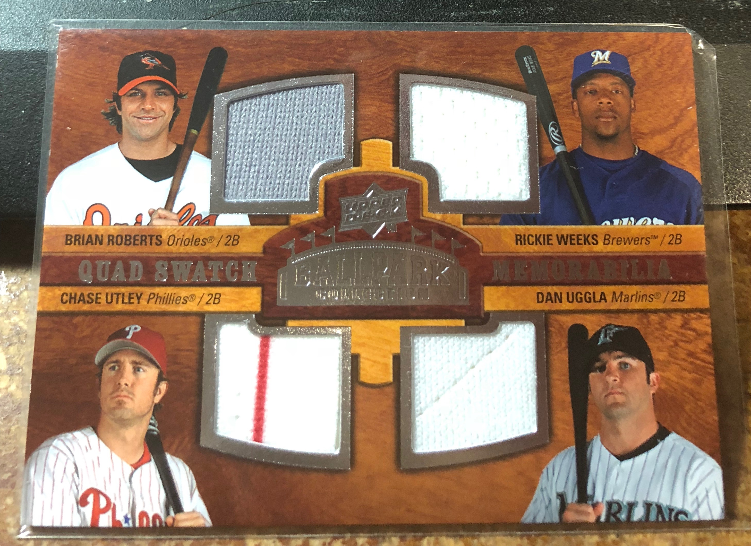 2008 Upper Deck Ballpark Collection #240 Brian Roberts/Rickie Weeks/Chase Utley/Dan Uggla