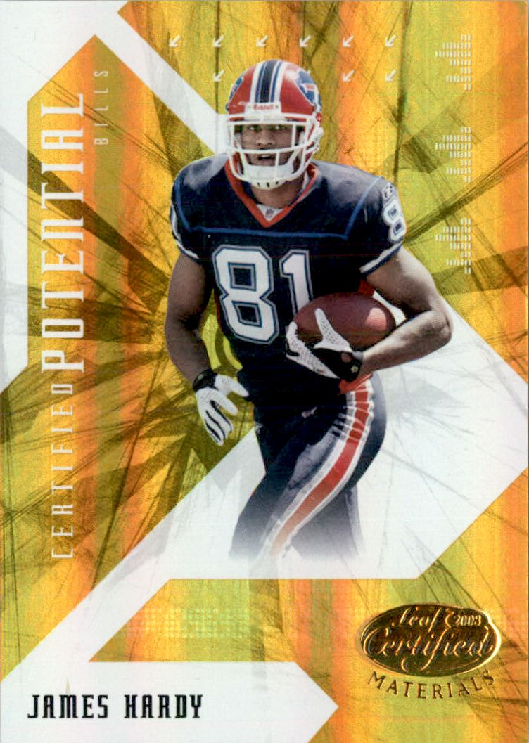 2008 Leaf Certified Materials Certified Potential Gold #18 James Hardy