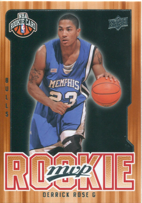 2008-09 Upper Deck MVP #201 Derrick Rose RC