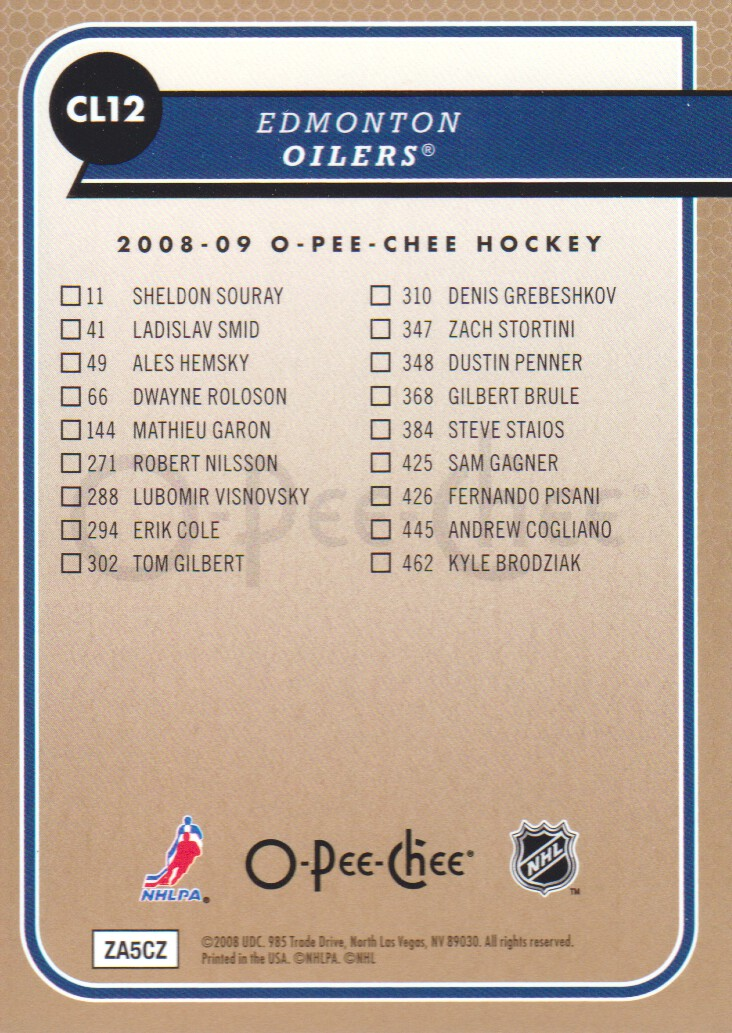 2008-09-O-Pee-Chee-OPC-Team-Checklist-Hockey-Cards-Pick-From-List thumbnail 5