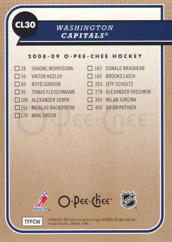 2008-09-O-Pee-Chee-OPC-Team-Checklist-Hockey-Cards-Pick-From-List thumbnail 11
