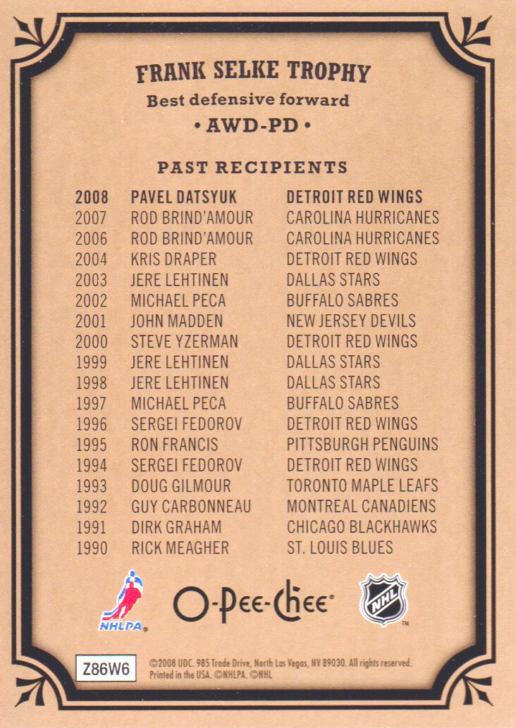 2008-09-O-Pee-Chee-OPC-Trophy-Cards-Hockey-Cards-Pick-From-List thumbnail 5