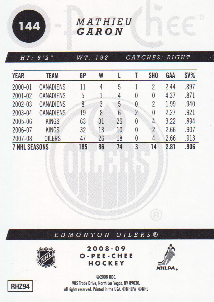 2008-09-O-Pee-Chee-OPC-Gold-Parallel-Hockey-Cards-Pick-From-List miniature 19
