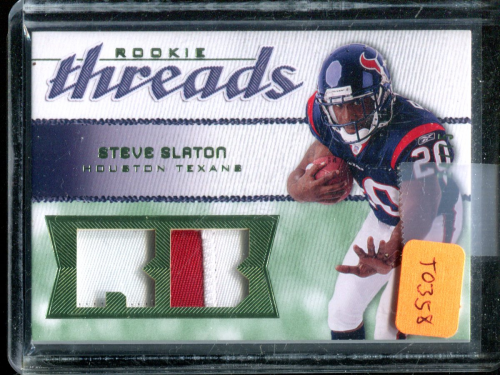 2008 SP Rookie Threads Rookie Threads Patch 75 #RTSS Steve Slaton