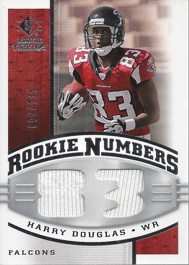 2008 SP Rookie Threads Rookie Numbers Silver 135 #RNHD Harry Douglas