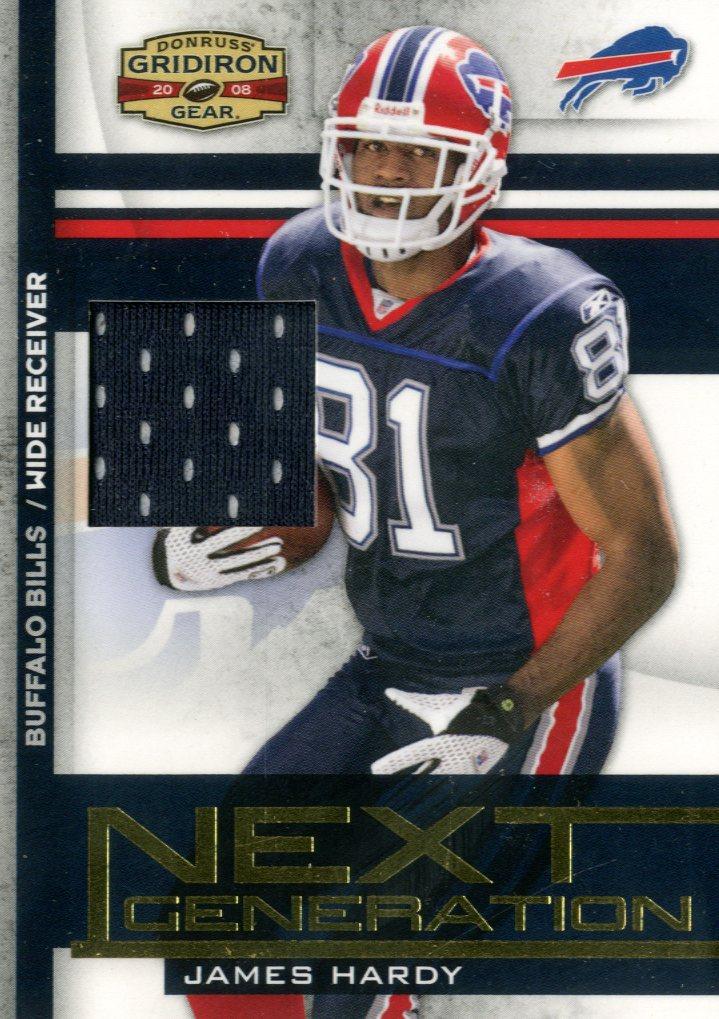 0fd6956a8b23 2008 Donruss Gridiron Gear Next Generation Jerseys Bills Card  1 James  Hardy Jsy