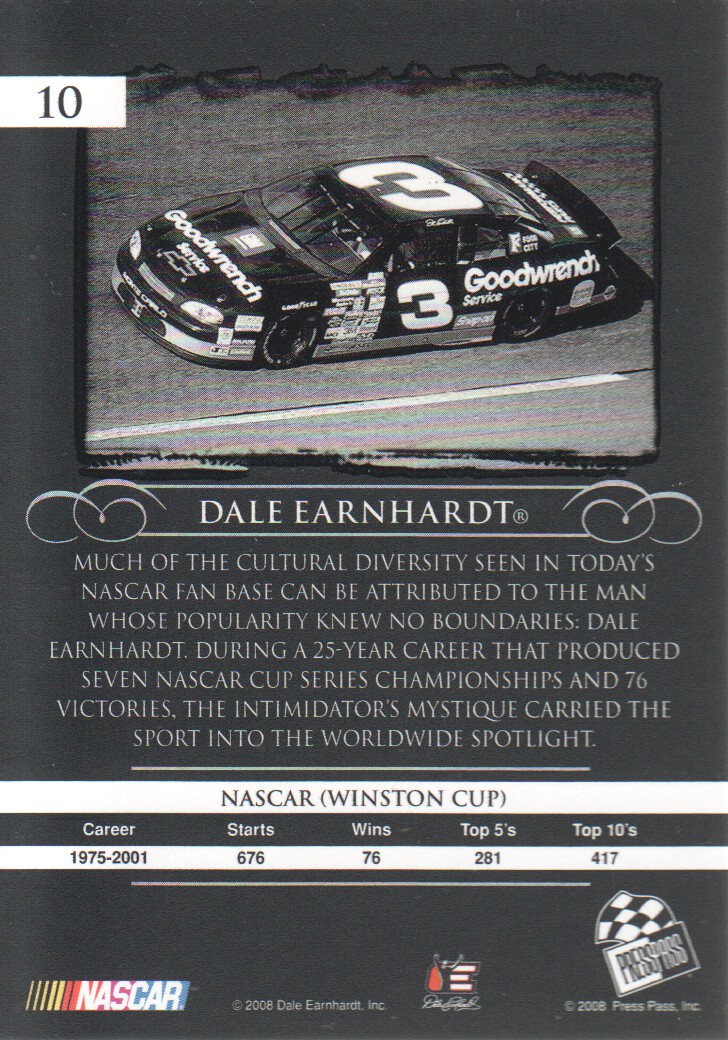 2008-Press-Pass-Legends-Parallels-NASCAR-Racing-Cards-Pick-From-List thumbnail 3