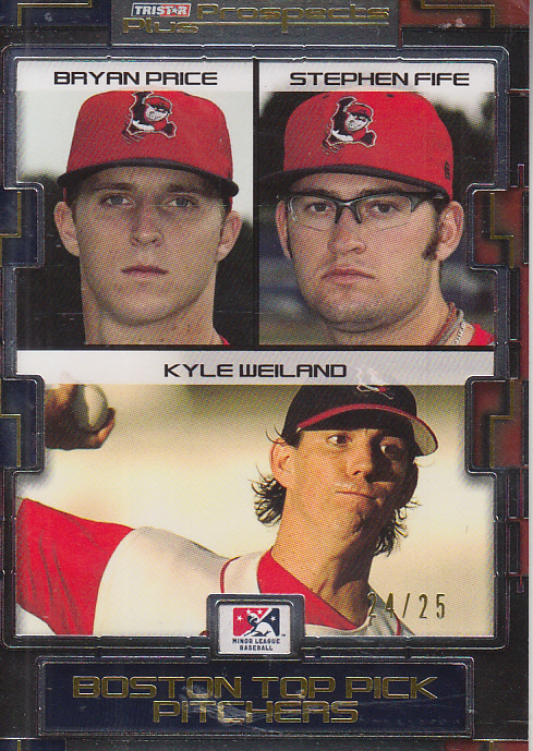 2008 TRISTAR Prospects Plus Yellow #137 Bryan Price/Stephen Fife/Kyle Weiland