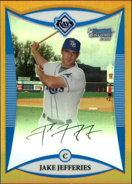 2008 Bowman Chrome Draft Prospects Gold Refractors #BDPP55 Jake Jefferies DP