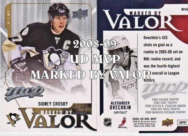 2008-09 Upper Deck MVP Marked by Valor #MV6 Alexander Ovechkin