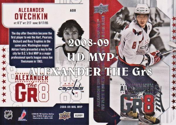 2008-09 Upper Deck MVP Alexander the Gr8 #AO1 Alexander Ovechkin