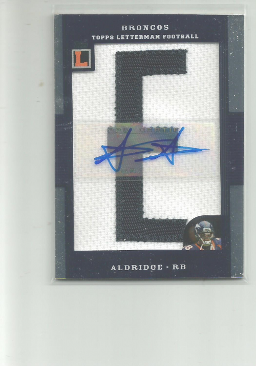 2008 Topps Letterman Patches Autograph #APAA Anthony Alridge/245*