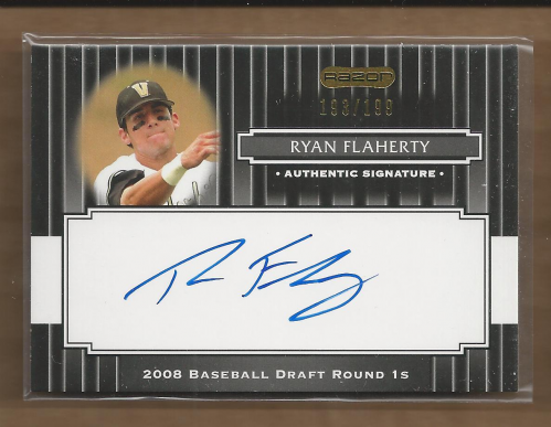 2008 Razor Signature Series Black #135 Ryan Flaherty AU