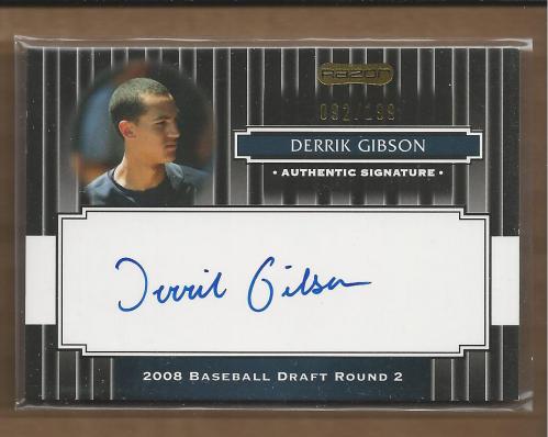 2008 Razor Signature Series Black #136 Derrik Gibson AU