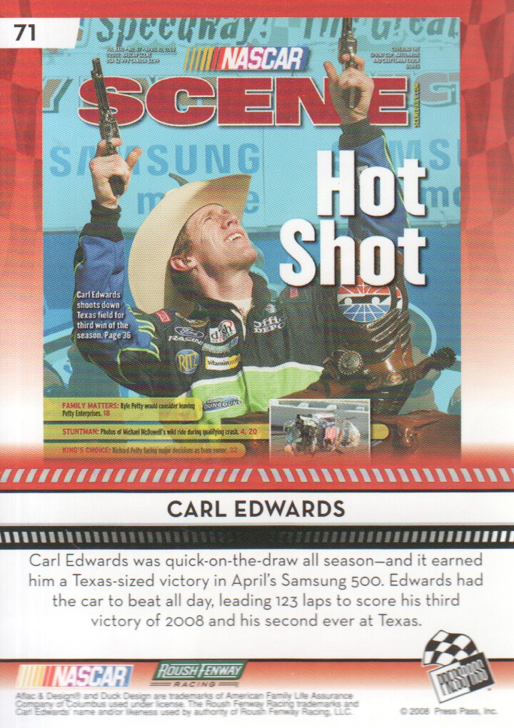 2009-Press-Pass-Parallels-NASCAR-Racing-Cards-Pick-From-List thumbnail 59
