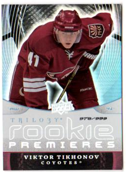 2008-09 Upper Deck Trilogy #135 Viktor Tikhonov RC