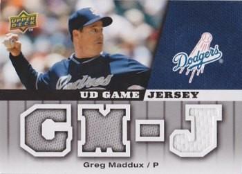 2009 Upper Deck UD Game Jersey #GJGM Greg Maddux