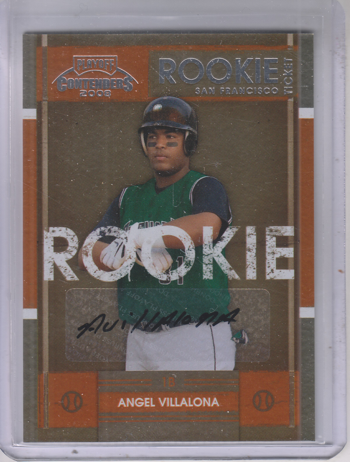 2008 Playoff Contenders #57 Angel Villalona AU