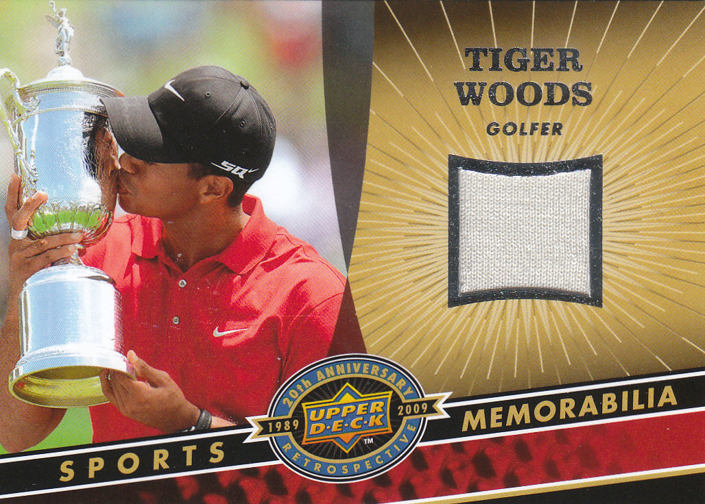 2009 Upper Deck 20th Anniversary Memorabilia #TW2 Tiger Woods