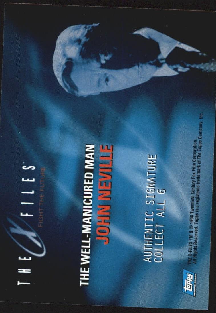 1998 X-Files Fight the Future Autographs #NNO John Neville back image