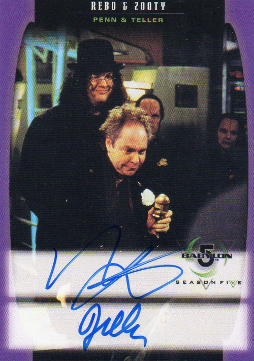 1998 Babylon 5 Season Five Autographs #A16 Penn & Teller