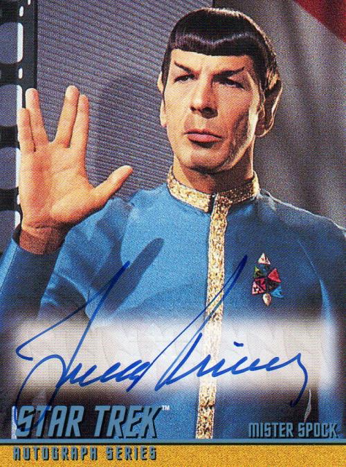 1999 Star Trek The Original Series Season 3 Autographs #A59 Leonard Nimoy